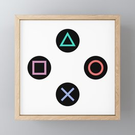 Play with Playstation Controller Buttons Framed Mini Art Print
