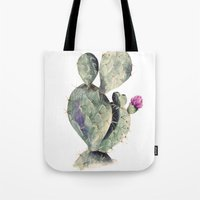 cactus Tote Bags featuring CACTUS by Annet Weelink Design