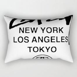 STUSSY World Tour Warp Crew logo Rectangular Pillow