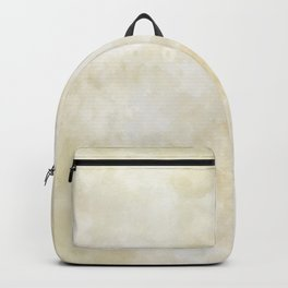 Grunge beige watercolor marble background Backpack