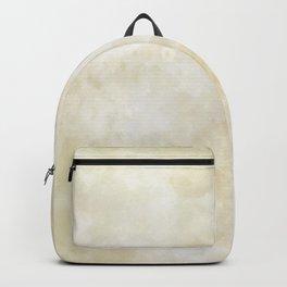 Grunge beige watercolor marble background Backpack