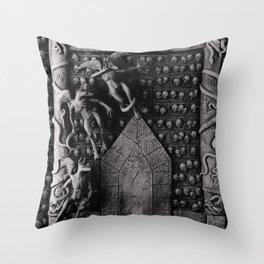 Cave Canem - Wall of Skulls Throw Pillow