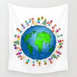 Christmas World Kids Wall Tapestry