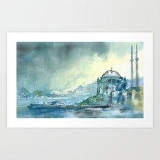 Overlooking the Bosphorus Art Print