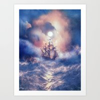 storm Art Prints featuring Perfect storm.  by Viviana Gonzalez