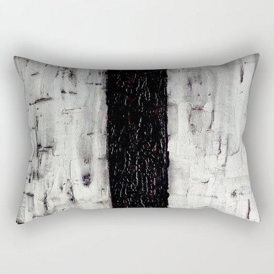 Dark Path - Black and white abstract Rectangular Pillow