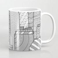 skyline Mugs featuring Skyline  by  Steve Wade ( Swade)