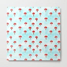 Mushrooms Watercolor Metal Print