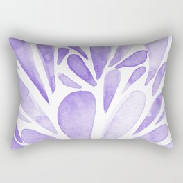 Watercolor artistic drops - lilac Rectangular Pillow