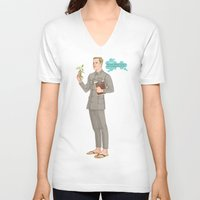 david fleck V-neck T-shirts featuring DAVID by Pulvis