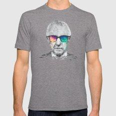 Albert Hofmann - Psychedelic Polygon Low Poly Portrait Tri-Grey Mens Fitted Tee MEDIUM