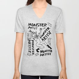 Monster Artist Unisex V-Neck