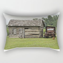 Old truck and cabin Rectangular Pillow