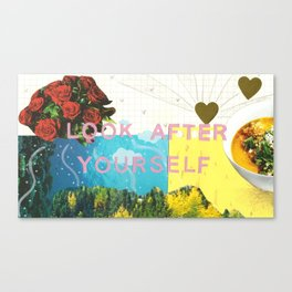 look after yourself 2.0 Canvas Print