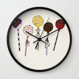 C is for Cake Pops Wall Clock