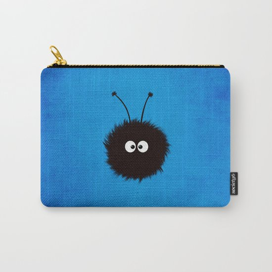 Blue Cute Dazzled Bug Carry-All Pouch