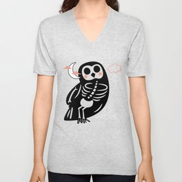 My Skeleton Friends - Owl Unisex V-Neck