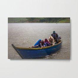 Downpour - Lake Bunyonyi, Uganda Metal Print