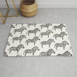 Zebras – Black & White Palette Rug