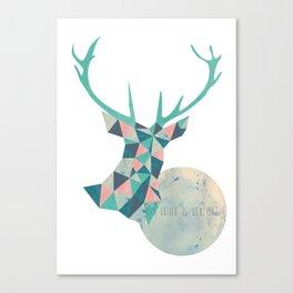 I'd rather be a deer Canvas Print