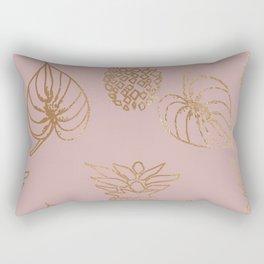 Gold Tropical Rectangular Pillow