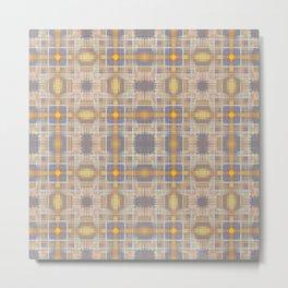 Faded gold crosses pattern Metal Print