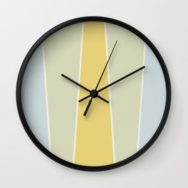 Soft Vintage Color Block Wall Clock