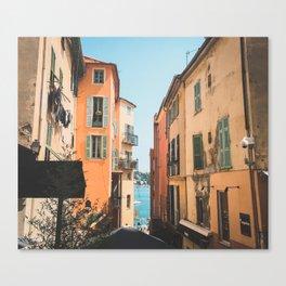 Cote d'Azur Tangerine Canvas Print