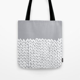 Half Knit Grey Tote Bag