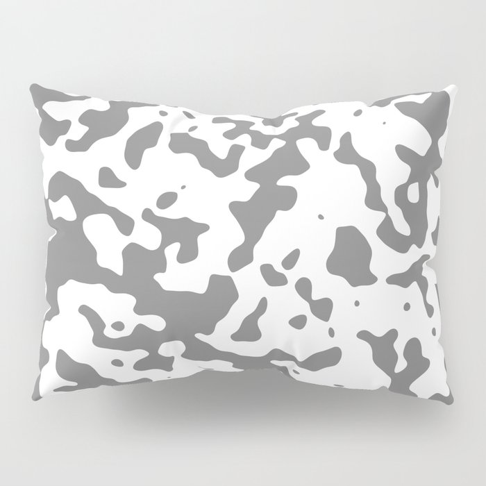 Spots - White and Gray Pillow Sham