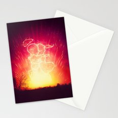 Cosmo + Celeste ( Colorful Cosmological Night Sky Couple in Love ) Stationery Cards