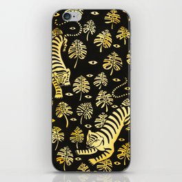 Tiger jungle animal pattern iPhone Skin
