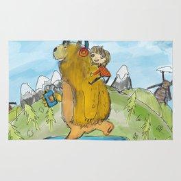 bear on skateboard Rug