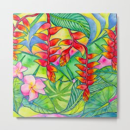 Heliconia (Lobster Claw) Jungle Print Metal Print