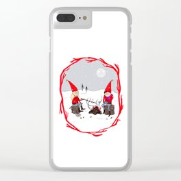 Snow and Stories Clear iPhone Case