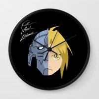 fullmetal Wall Clocks featuring Fullmetal Alchemist/RAM by 5eth