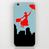 mary poppins iPhone & iPod Skins featuring Mary Poppins  by Sammycrafts