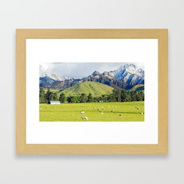 Sheep Station Framed Art Print