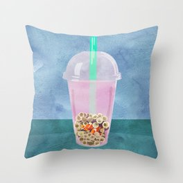 Clownfish Tea by Kenzie McFeely Throw Pillow