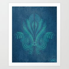 The Watcher's Hamsa Art Print