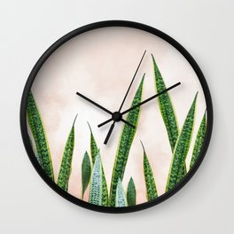 Dreaming candy cotton with green Wall Clock