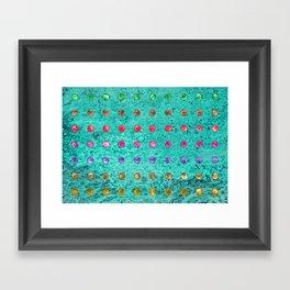 DOTTY TEAL Framed Art Print