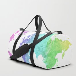 "Rainbow world map in watercolor style ""Jude"" Duffle Bag"