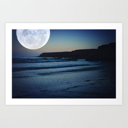 Moonlight Cove Art Print