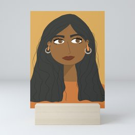 SARA   Female Digital Illustration Mini Art Print