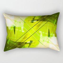 Toxic - Geometric Abstract Art Rectangular Pillow