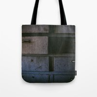 wisconsin Tote Bags featuring Wisconsin Workbench  by Memoirs of a Pilgrim - The Shop