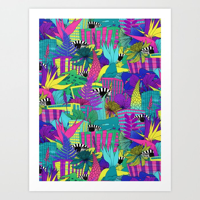 the city is a jungle Art Print