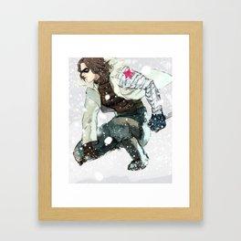 winter soldier Framed Art Print