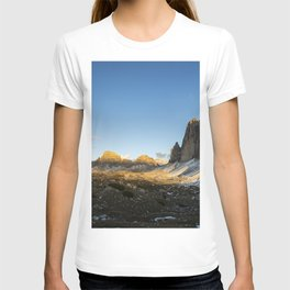 Tre Cime sunset panorama T-shirt